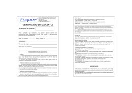 cert gar.cdr - Zupan Indústria de Hidro