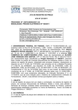 processo nº 25813/05-02 - Centro de Computação Eletrônica – UFPR