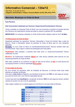 Informativo Comercial – 134a/12