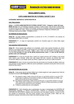 RegulamentoTécnico - AABB Porto Velho