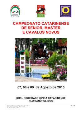 programa - Sociedade Hípica Catarinense