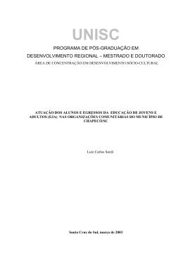 programa de pós-graduação em desenvolvimento regional