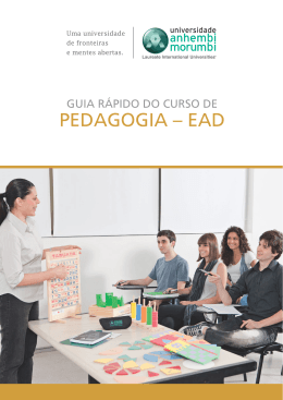 GUIA RÁPIDO - PEDAGOGIA - EAD - Universidade Anhembi Morumbi