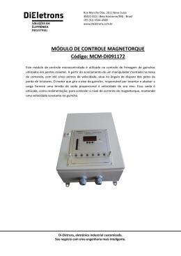 MÓDULO DE CONTROLE MAGNETORQUE Código - Di