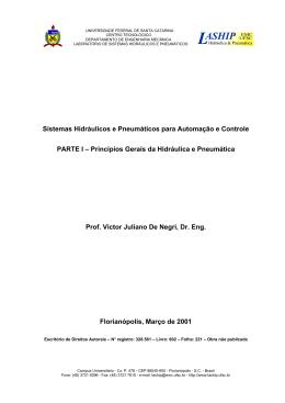 Princípios Gerais da Hidráulica e - LASHIP