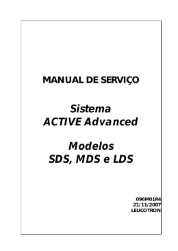 Sistema ACTIVE Advanced Modelos SDS, MDS e LDS