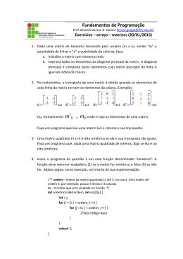 Arrays - matrizes I