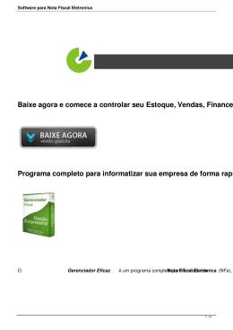 Software para Nota Fiscal Eletronica