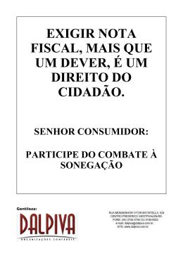 Cartaz Nota Fiscal