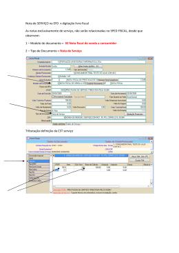 23 - Nota de SERVICO na EFD x digitacao livro fiscal