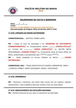 Dia da Bandeira - Polícia Militar da Bahia