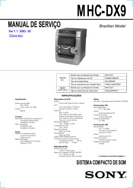 mhc-dx9 manual de serviço