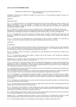 Regimento de Custas - Tribunal de Justiça do Estado de Goiás