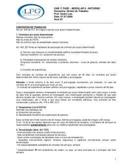OAB 1ª FASE – MODULAR II - NOTURNO Disciplina: Direito do