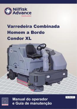 Varredeira Combinada Homem a Bordo Condor XL