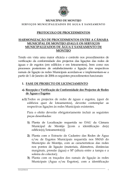 Protocolo DAU-SMAS - Câmara Municipal de Montijo