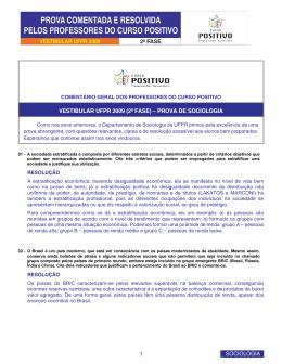 vestibular ufpr 2009 (2ª fase) – prova de sociologia