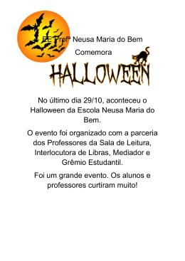 EE Profª Neusa Maria do Bem Comemora No último dia 29/10