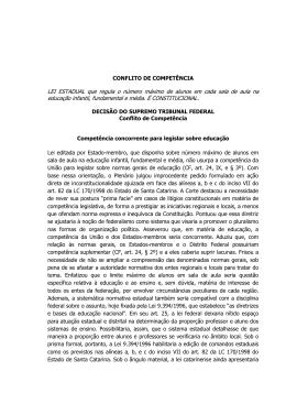 Conflito de Competências julgado pelo STF em 2015