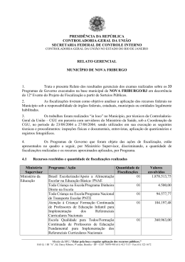 relatório de fiscalização nº 260 município de nova friburgo