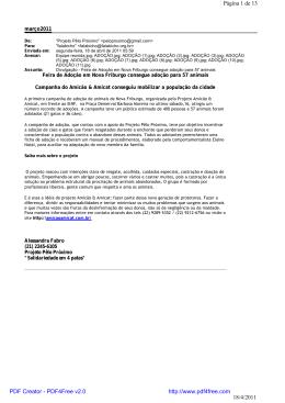 março2011 Feira de Adoção em Nova Friburgo consegue adoção