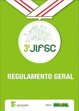 regulamento geral 3º jogos do instituto federal de educação