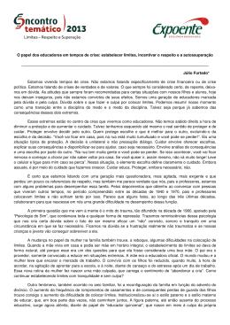 Conferência - Texto reflexivo