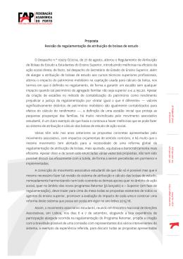Revisão do Regulamento da Atribuição de Bolsas de Estudo
