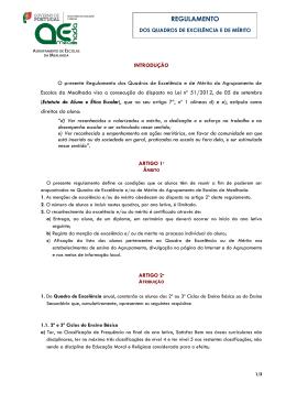 REGULAMENTO - Agrupamento de Escolas da Mealhada