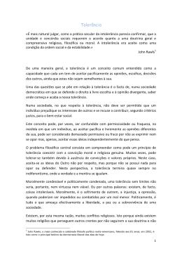 Tolerância Catarina Moraes Sarmento, 11º C
