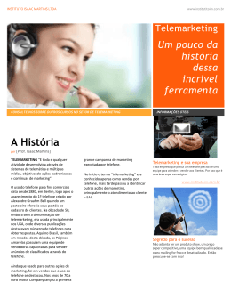 Telemarketing - Instituto Isaac Martins