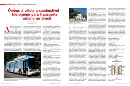 Ônibus a célula a combustível hidrogênio para transporte urbano no