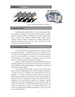 Unidade II - Oscilação