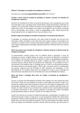 Entrevista com a psicóloga Angela Elizabeth Lapa Coêlho - CRP-RJ