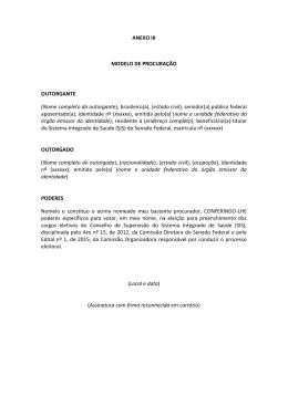 ANEXO III MODELO DE PROCURAÇÃO
