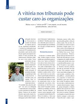 Artigo - Roberto Castro Neves
