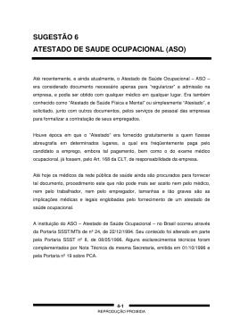 SUGESTÃO 6 ATESTADO DE SAUDE OCUPACIONAL (ASO)