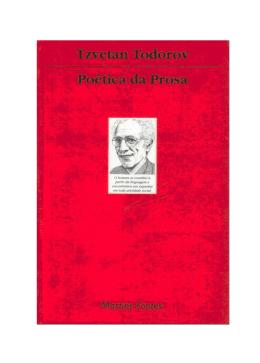 TODOROV, Tzvetan - Poética da Prosa