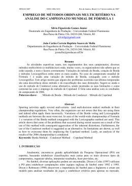 emprego de métodos ordinais multicritério na análise do