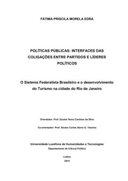 POLÍTICAS PÚBLICAS: INTERFACES DAS COLIGAÇÕES
