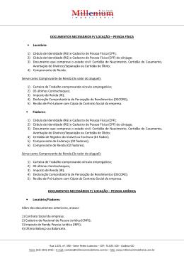 1) Documentos Necessários para Locação
