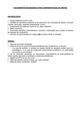 documentos necessários para locação de imóvel