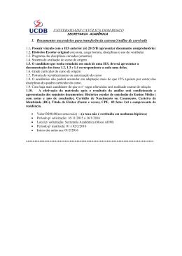 1. Documentos necessários para transferência