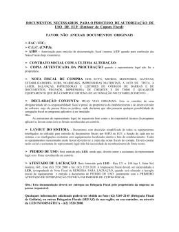 documentos necessarios para processo de