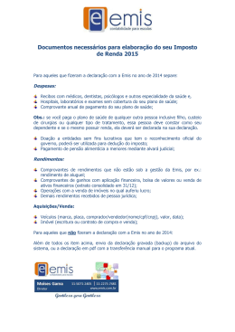 documentos necessarios para irpf 2015