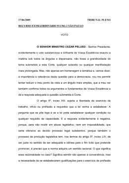 Íntegra do voto do ministro Cezar Peluso