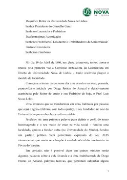 Prof. Doutor José Carlos Vieira de Andrade