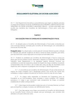 REGULAMENTO ELEITORAL DO SICOOB JUDICIÁRIO