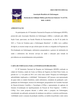 Carta de Fortaleza para a Enfermagem Brasileira