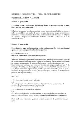 RECURSOS – AGENTE DPF 2014 - PROVA DE CONTABILIDADE